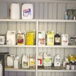 Chemical shed housekeeping and labelling